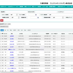5歳児英語 フェリシオンジャパン株式会社 管理システム